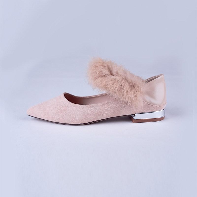 金苑韩版毛茸茸单鞋女鞋S911012