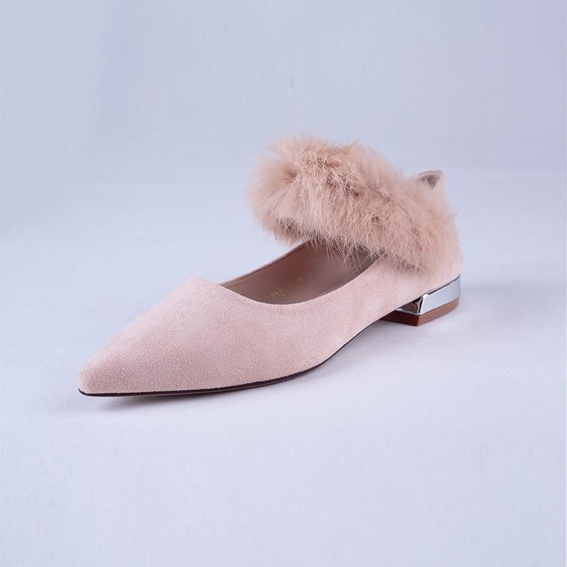 金苑韩版毛茸茸单鞋女鞋S911011