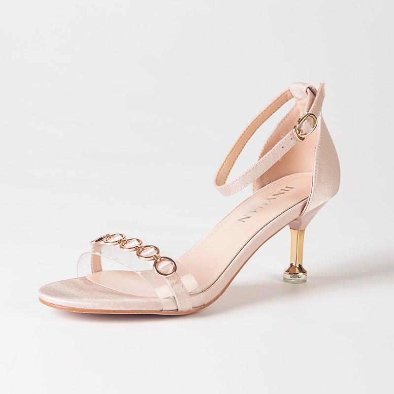 金苑夏季新款细跟高跟鞋女鞋S921011
