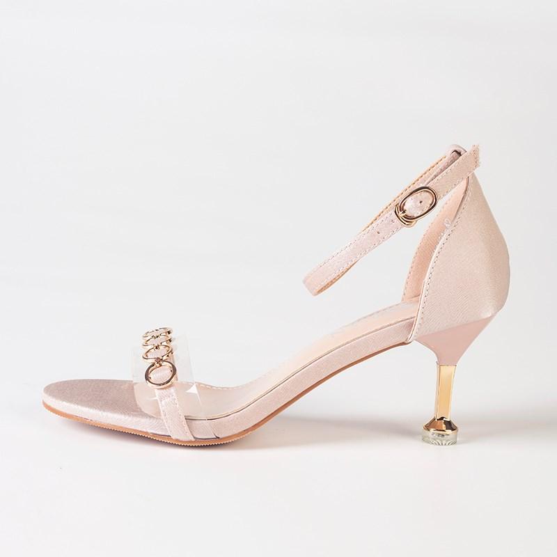 金苑夏季新款细跟高跟鞋女鞋S921012