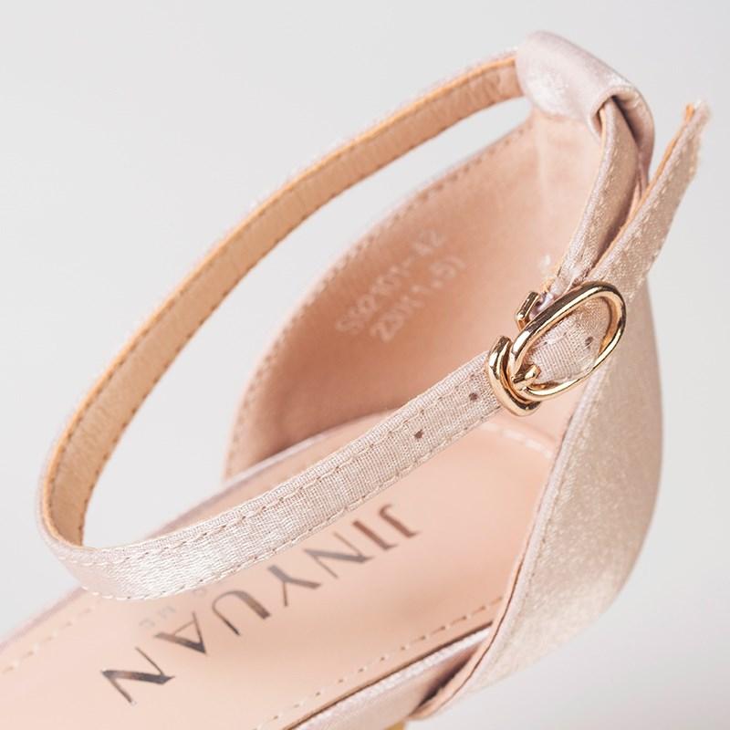 金苑夏季新款细跟高跟鞋女鞋S921014