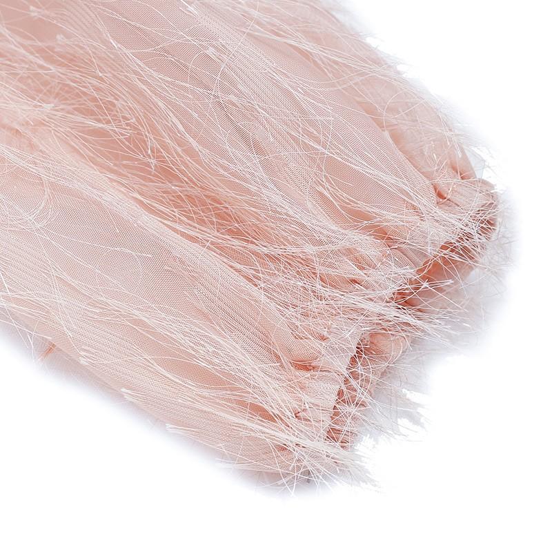 金苑女装2019秋新款蕾丝流苏中裙优雅甜美气质仙纯色连衣裙G931229