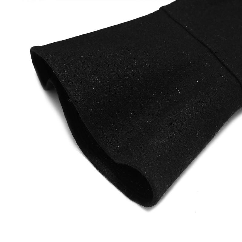 金苑连衣裙2019冬装新款蕾丝连衣裙拼接优雅气质黑色连衣裙G951096