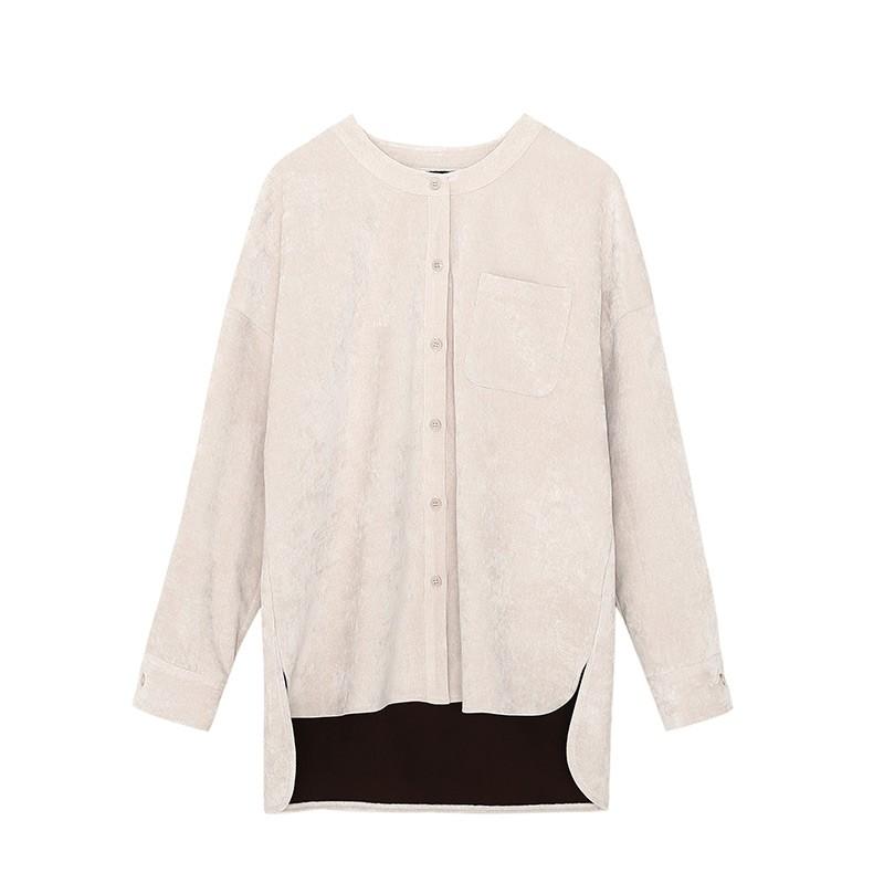 金苑女装2019冬装新款小清新上衣纯色减龄外穿韩版显瘦衬衫A951016