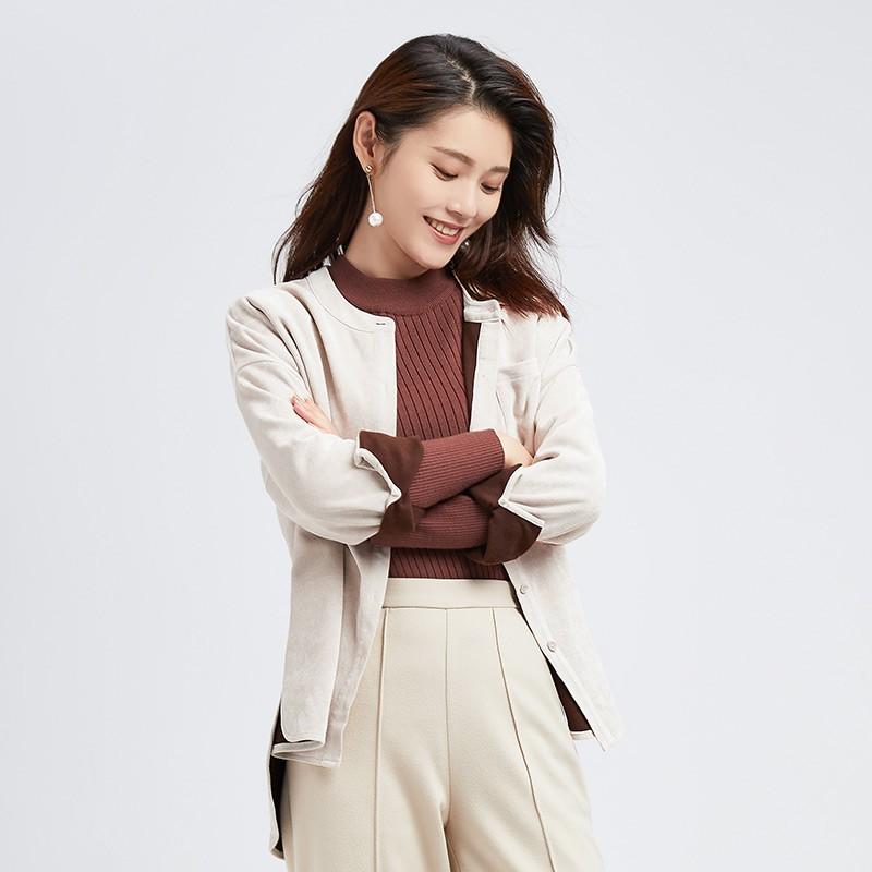 金苑女装2019冬装新款小清新上衣纯色减龄外穿韩版显瘦衬衫A951015