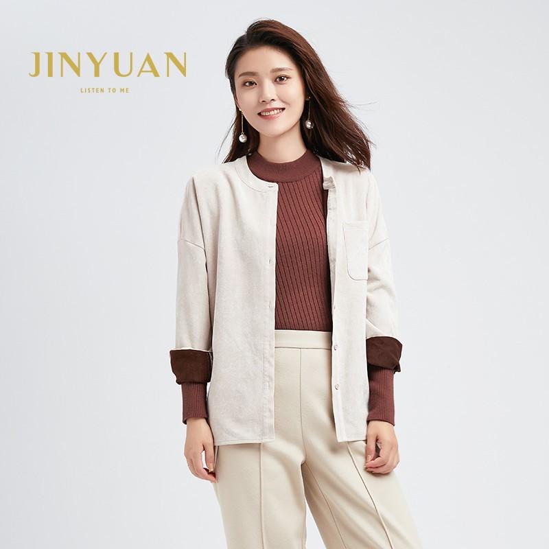 金苑女装2019冬装新款小清新上衣纯色减龄外穿韩版显瘦衬衫A951011