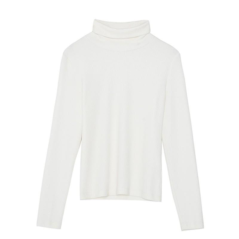 金苑女装2019冬装新款打底上衣纯色半高领基础外穿长袖上衣F959015