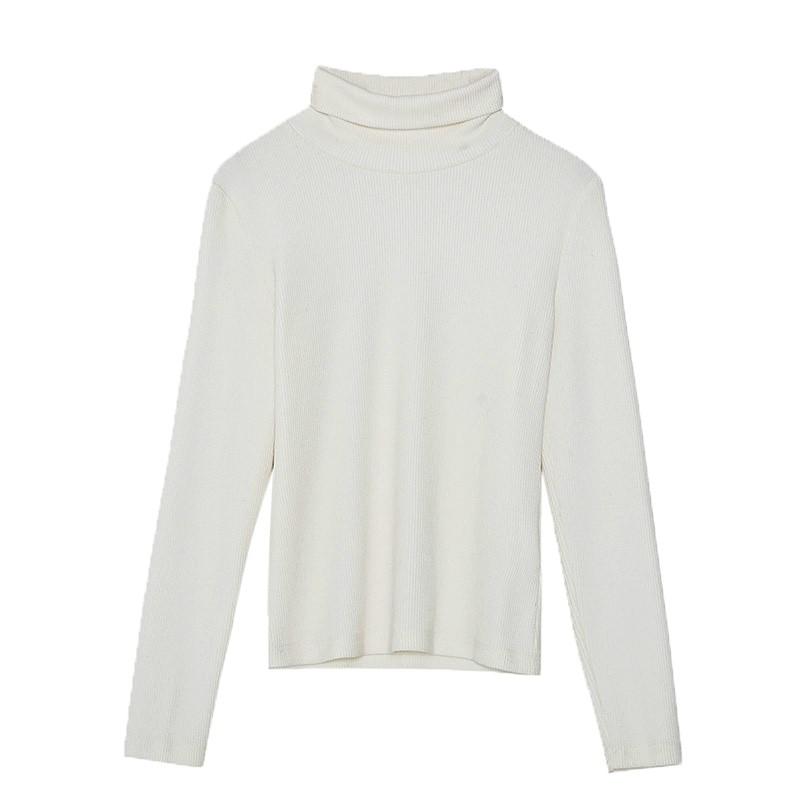 金苑女装2019冬装新款打底上衣纯色半高领基础外穿长袖上衣F959017