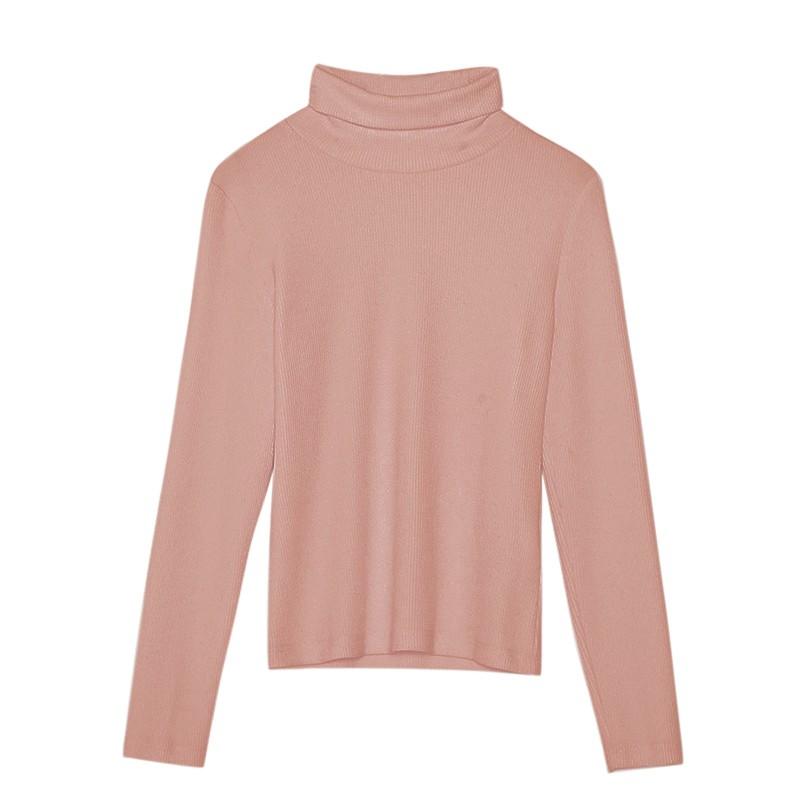 金苑女装2019冬装新款打底上衣纯色半高领基础外穿长袖上衣F959018