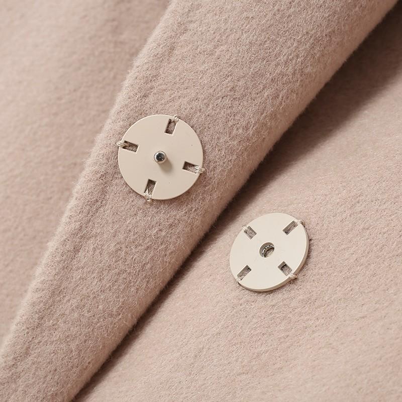 金苑冬装2019新款女装双面呢大衣优雅气质中长款羊毛呢外套E959016