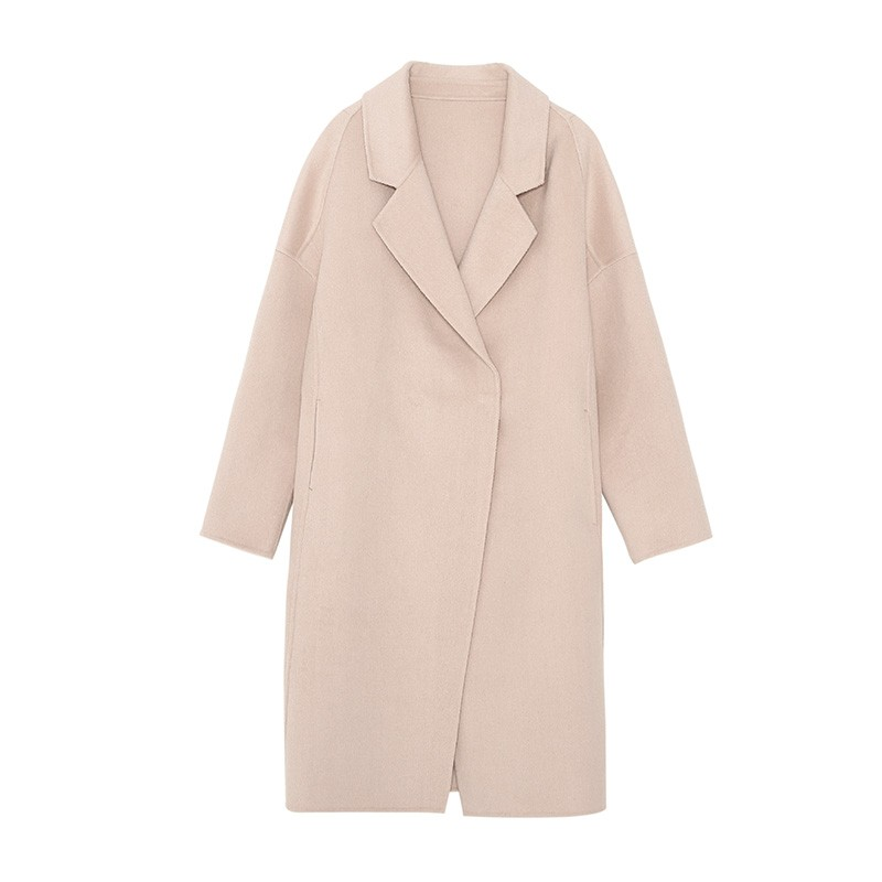 金苑冬装2019新款女装双面呢大衣优雅气质中长款羊毛呢外套E959015