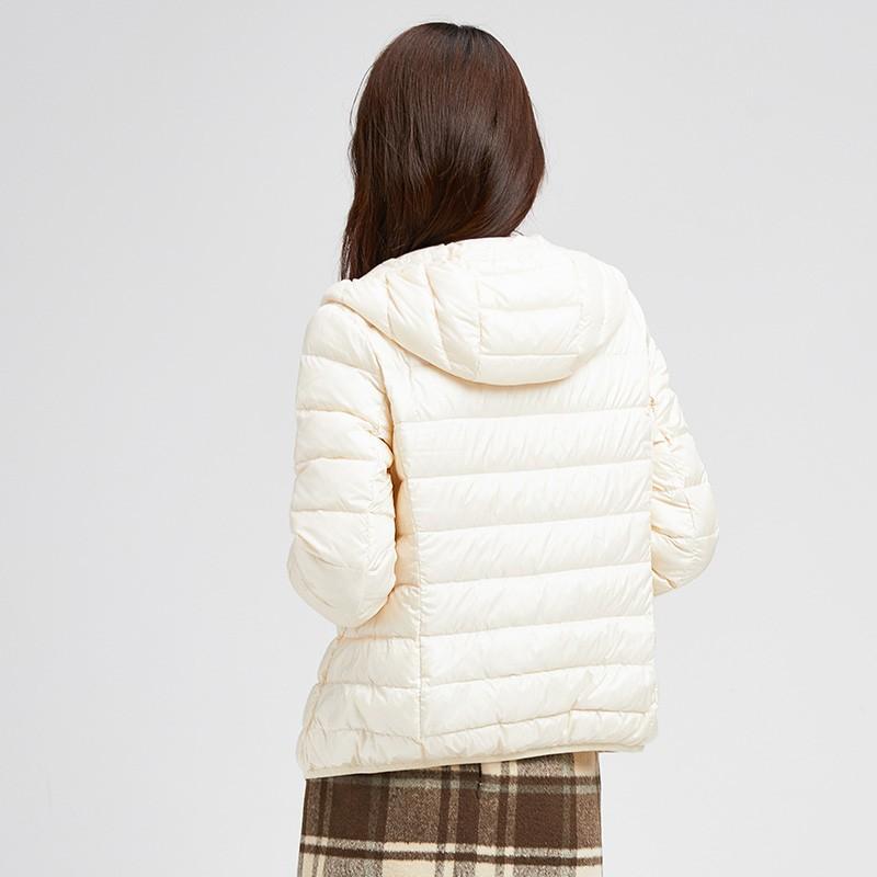 金苑羽绒服女2019冬季新款韩版轻薄连帽短款外套小个子棉服J951224
