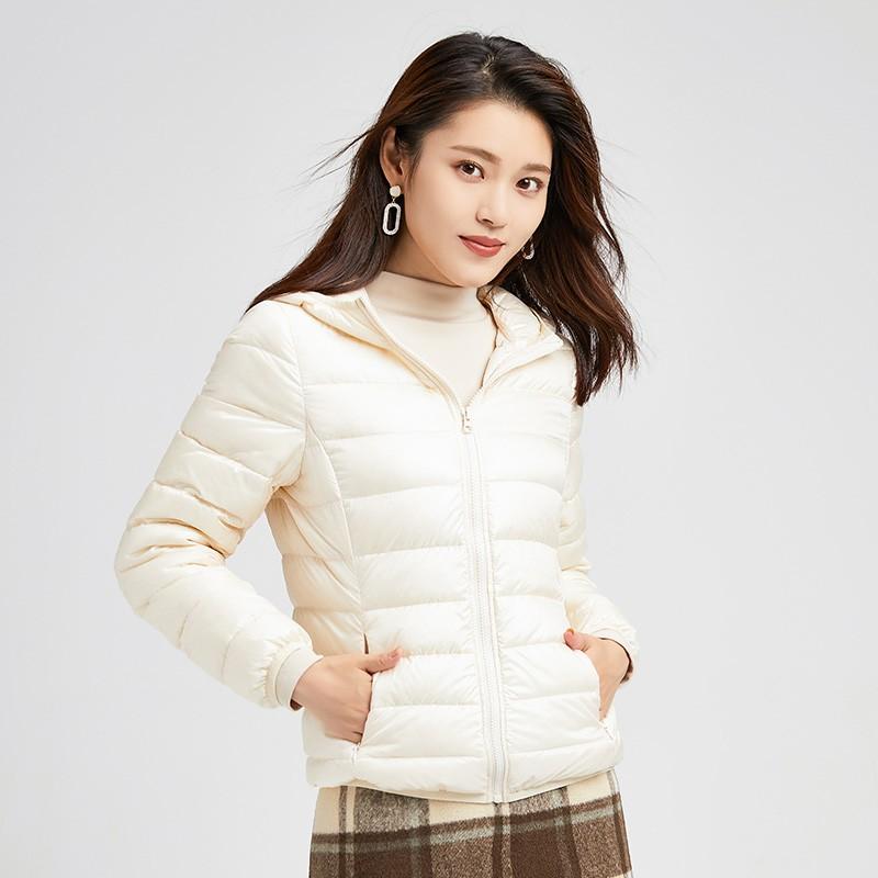 金苑羽绒服女2019冬季新款韩版轻薄连帽短款外套小个子棉服J951222