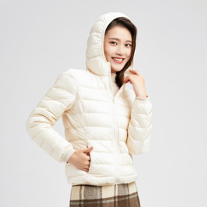 金苑羽绒服女2019冬季新款韩版轻薄连帽短款外套小个子棉服J951223