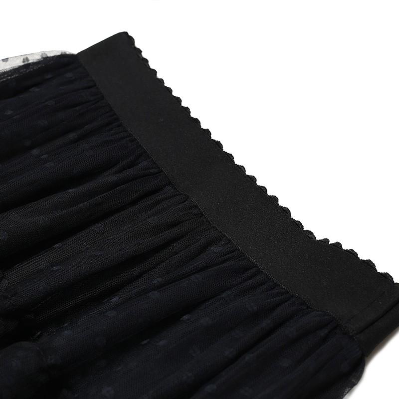 金苑女装2019冬装新款蛋糕裙蕾丝网纱拼接中长款高腰半身裙B951076