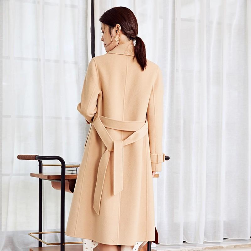 金苑冬装羊毛大衣2019新款女装中长款外套韩版简约毛呢外套E9511814