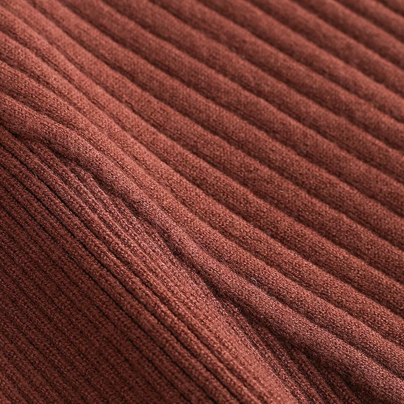 金苑金苑女装打底毛衫2019冬装新款纯色显瘦不规则针织衫女H9510512