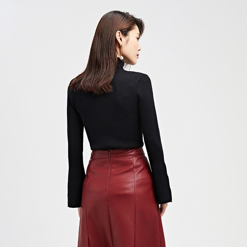 金苑毛针织衫女士2019冬季新款修身韩版高领长袖套头打底衫H951084
