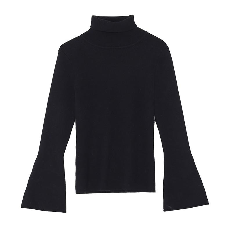 金苑毛针织衫女士2019冬季新款修身韩版高领长袖套头打底衫H951086