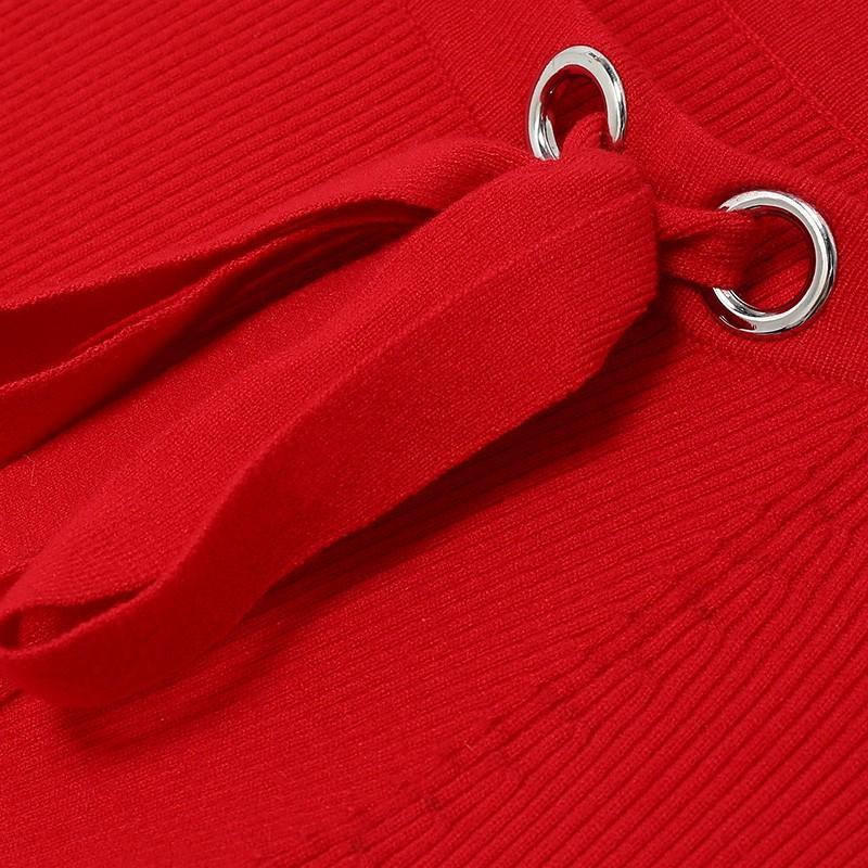 金苑2019冬装新款打底线衫女V领红色显瘦长袖百搭针织衫H951126