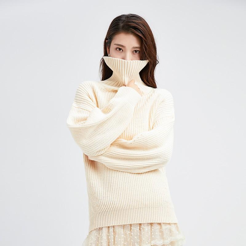 内搭高领毛衣女士2019冬季显瘦上衣套头毛衫长袖打底针织衫H951133