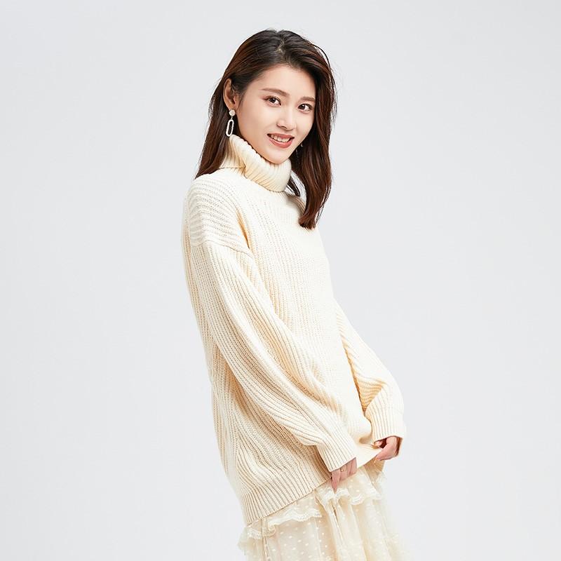 内搭高领毛衣女士2019冬季显瘦上衣套头毛衫长袖打底针织衫H951132