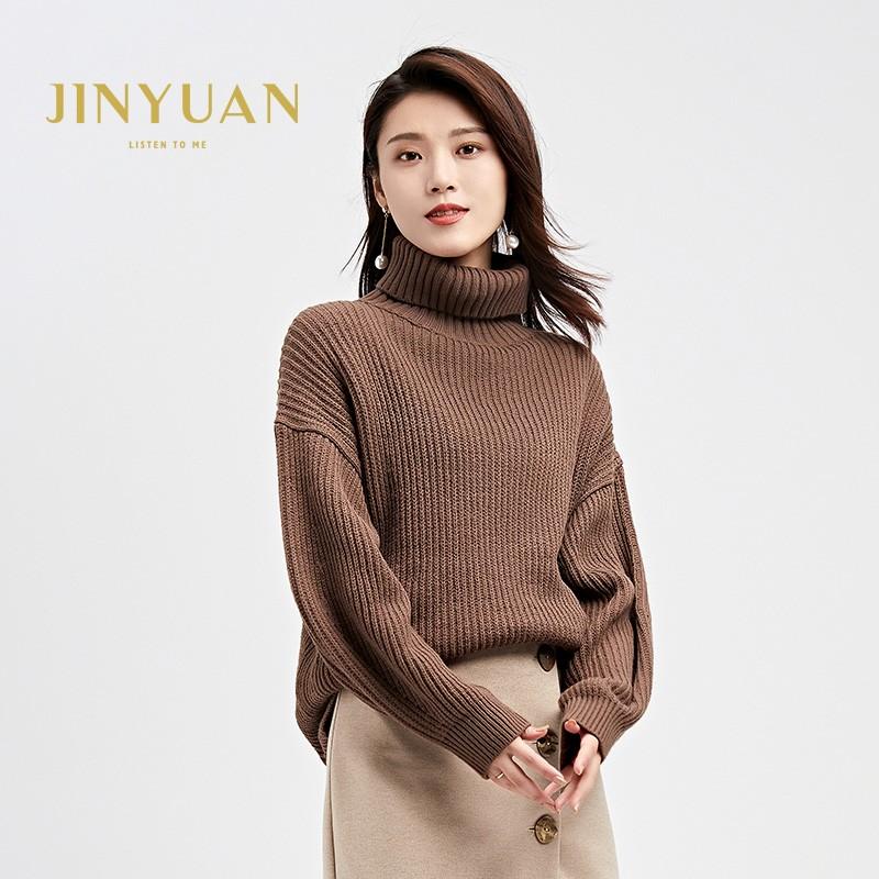 内搭高领毛衣女士2019冬季显瘦上衣套头毛衫长袖打底针织衫H951137