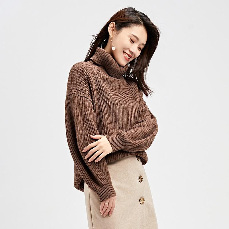 内搭高领毛衣女士2019冬季显瘦上衣套头毛衫长袖打底针织衫H951138