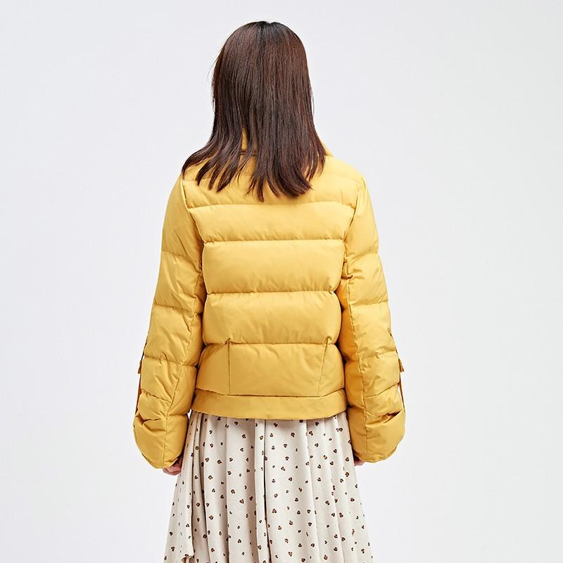 金苑韩版短款外套女2019冬季新款宽松时尚潮百搭面包羽绒服J9510710