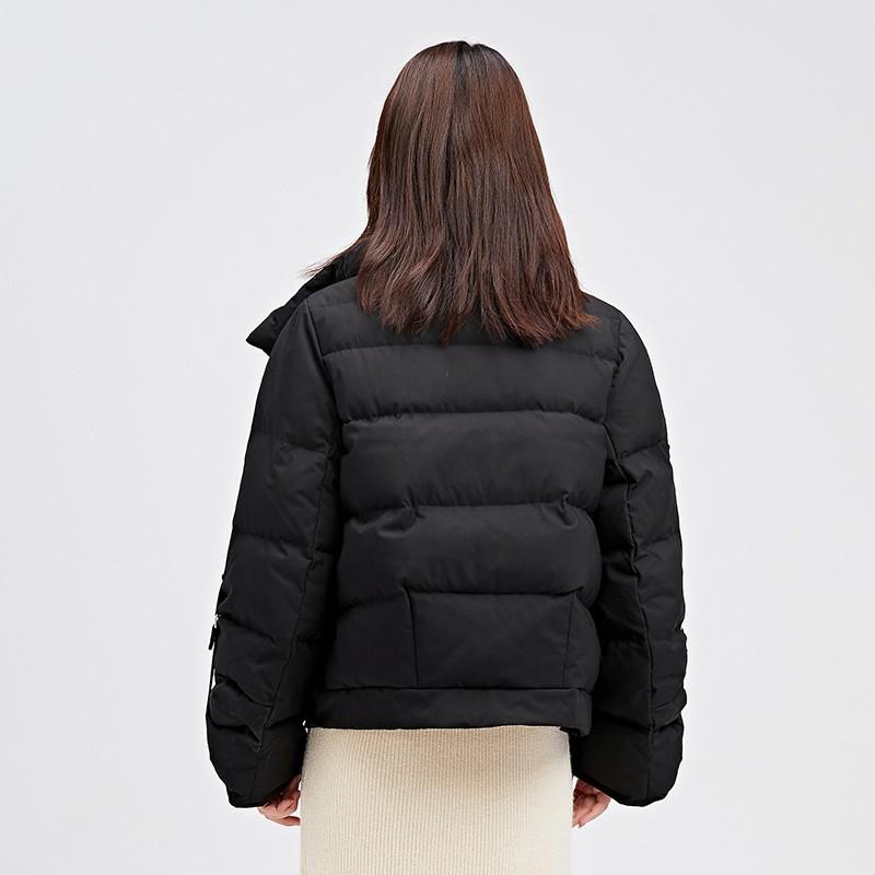 金苑韩版短款外套女2019冬季新款宽松时尚潮百搭面包羽绒服J951074