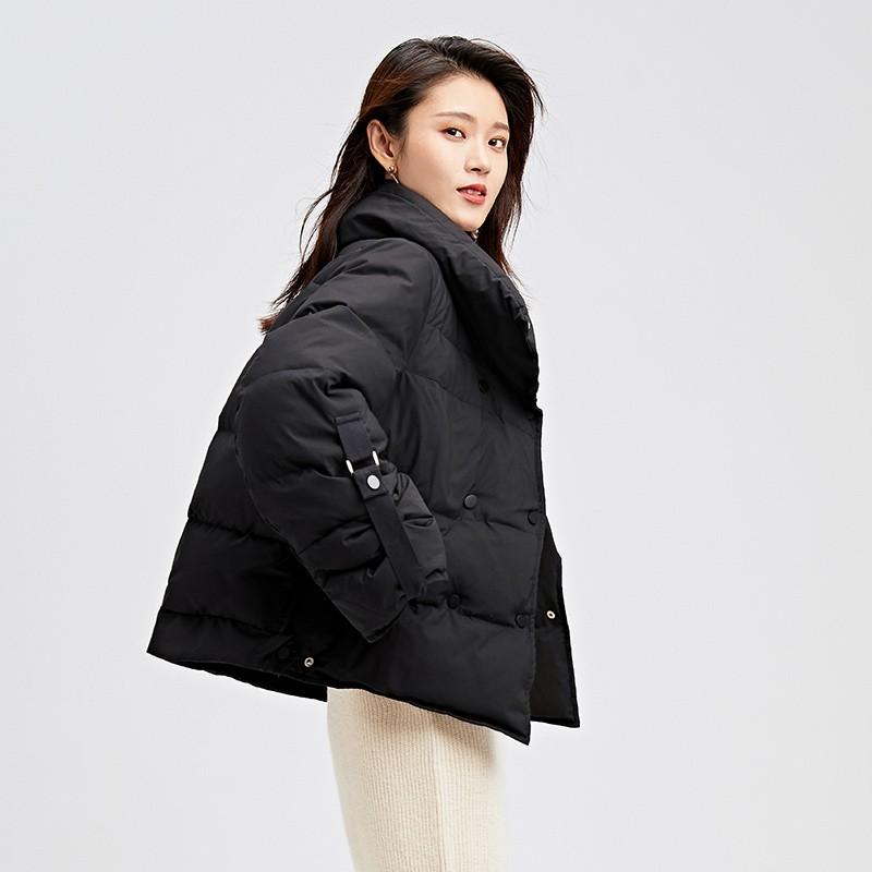 金苑韩版短款外套女2019冬季新款宽松时尚潮百搭面包羽绒服J951073