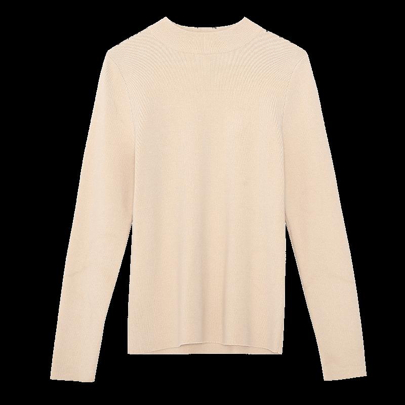 金苑冬装2019新款女装打底上衣基础纯色显瘦外穿长袖针织衫H959016