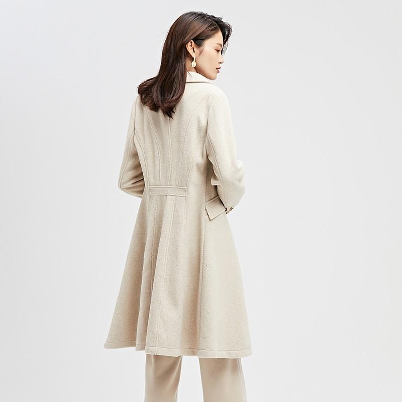 金苑2019冬装新款中长款风衣女装韩版减龄优雅女式风衣外套E951194