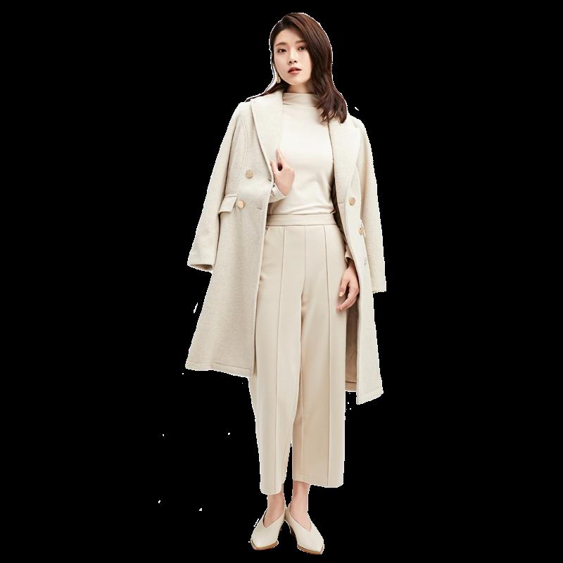 金苑2019冬装新款中长款风衣女装韩版减龄优雅女式风衣外套E951196
