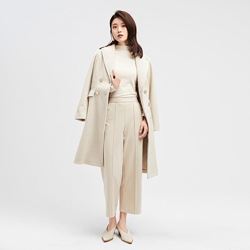 金苑2019冬装新款中长款风衣女装韩版减龄优雅女式风衣外套E951192