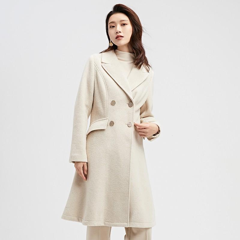 金苑2019冬装新款中长款风衣女装韩版减龄优雅女式风衣外套E951195