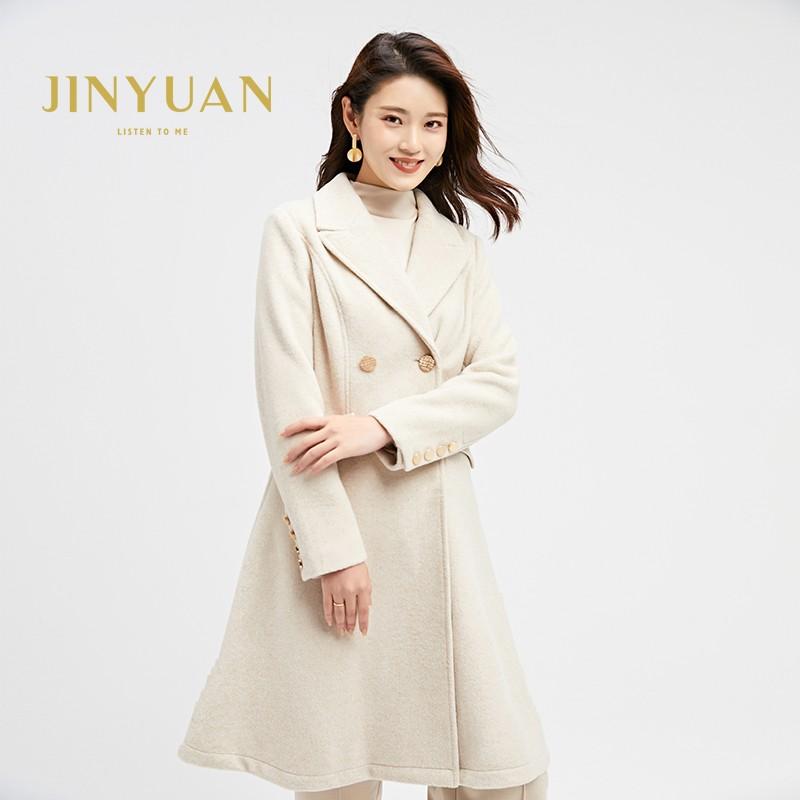 金苑2019冬装新款中长款风衣女装韩版减龄优雅女式风衣外套E951191