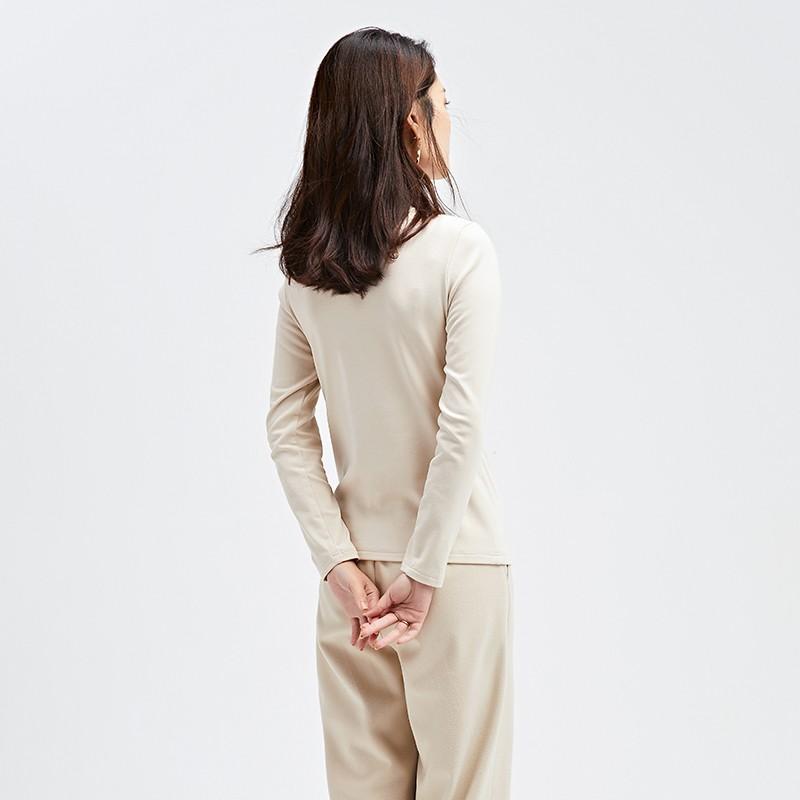 金苑冬装2019新款薄款打底衫长袖内搭纯色宽松女装打底上衣F951013