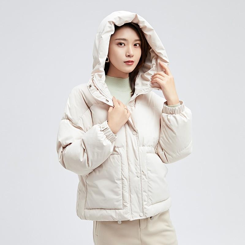 金苑羽绒服2019冬装新款女保暖外套百搭显瘦翻领时尚羽绒服J951235