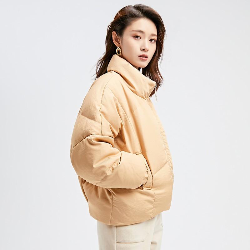 金苑2019冬装新款女士羽绒服修身显瘦保暖减龄长袖外套J951113