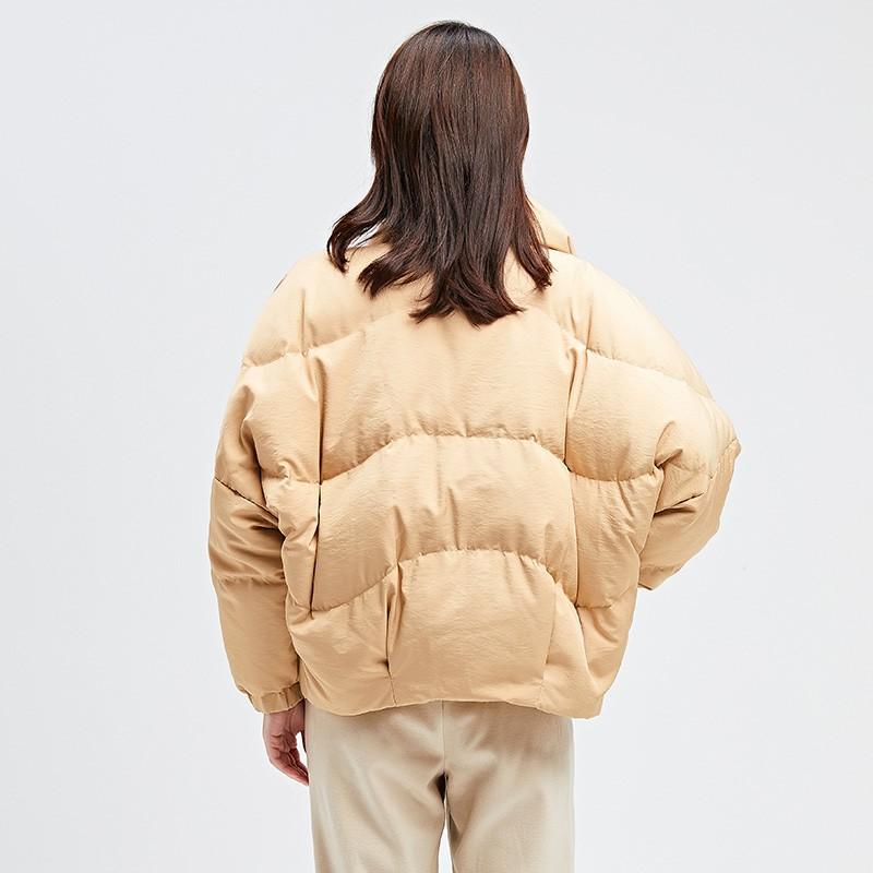金苑2019冬装新款女士羽绒服修身显瘦保暖减龄长袖外套J951115