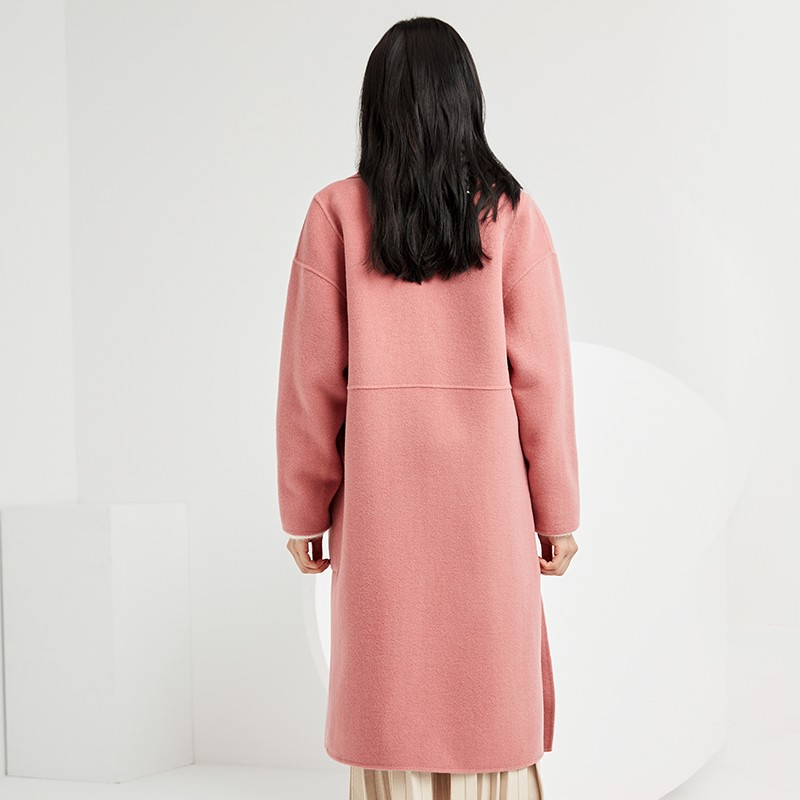 金苑双面呢子大衣女新款2019冬季流行外套韩版女羊毛呢外套E951304