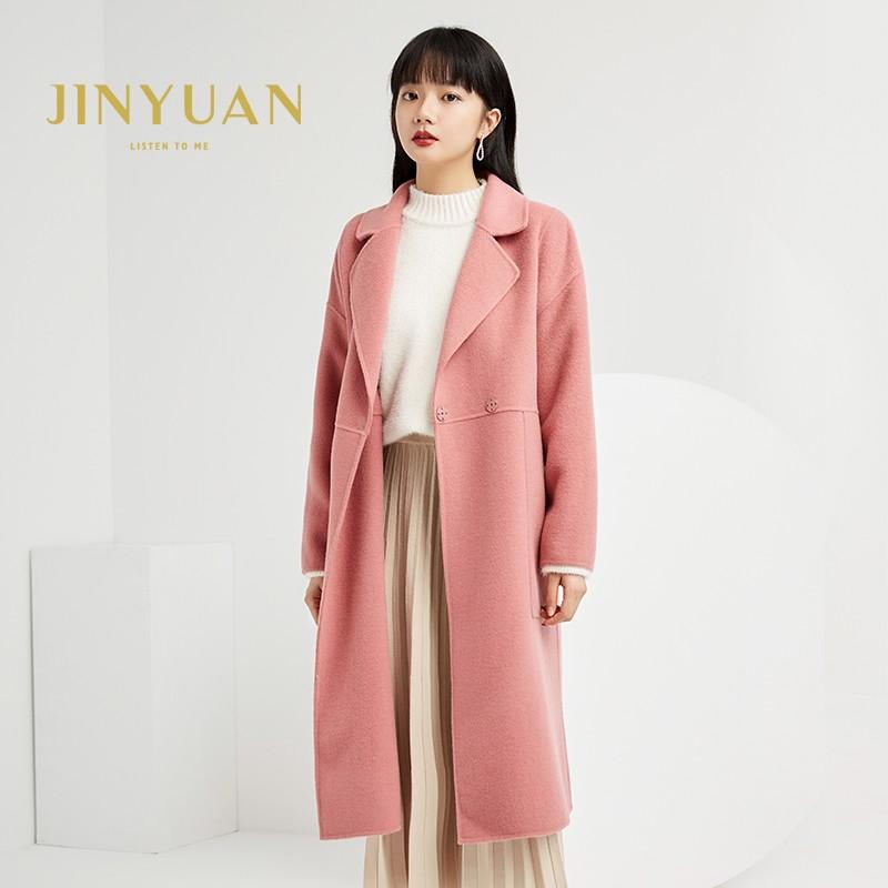 金苑双面呢子大衣女新款2019冬季流行外套韩版女羊毛呢外套E951301