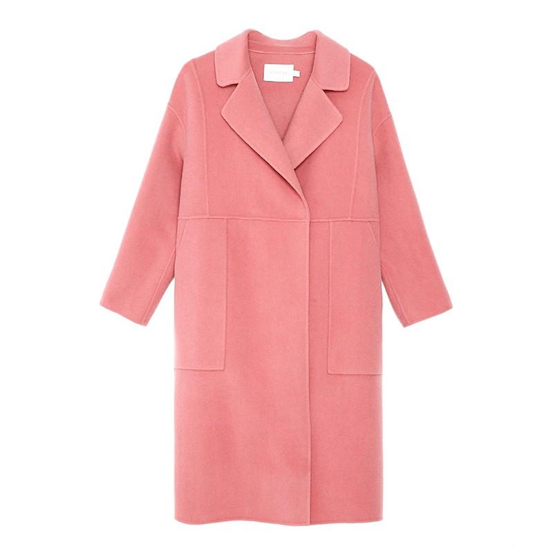 金苑双面呢子大衣女新款2019冬季流行外套韩版女羊毛呢外套E951306