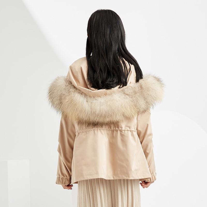 金苑派克服女2019新款冬装韩版宽松潮两件套白鸭绒羽绒服女J951464