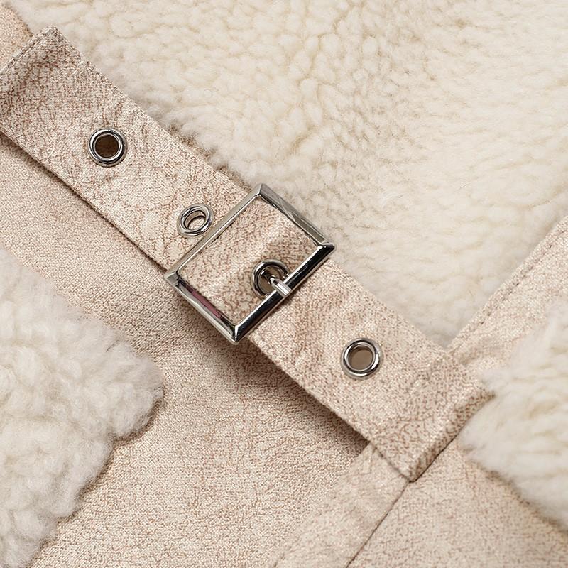 金苑中长款长袖外套冬季2019新款女装时尚宽松羊毛羽绒服女J951516