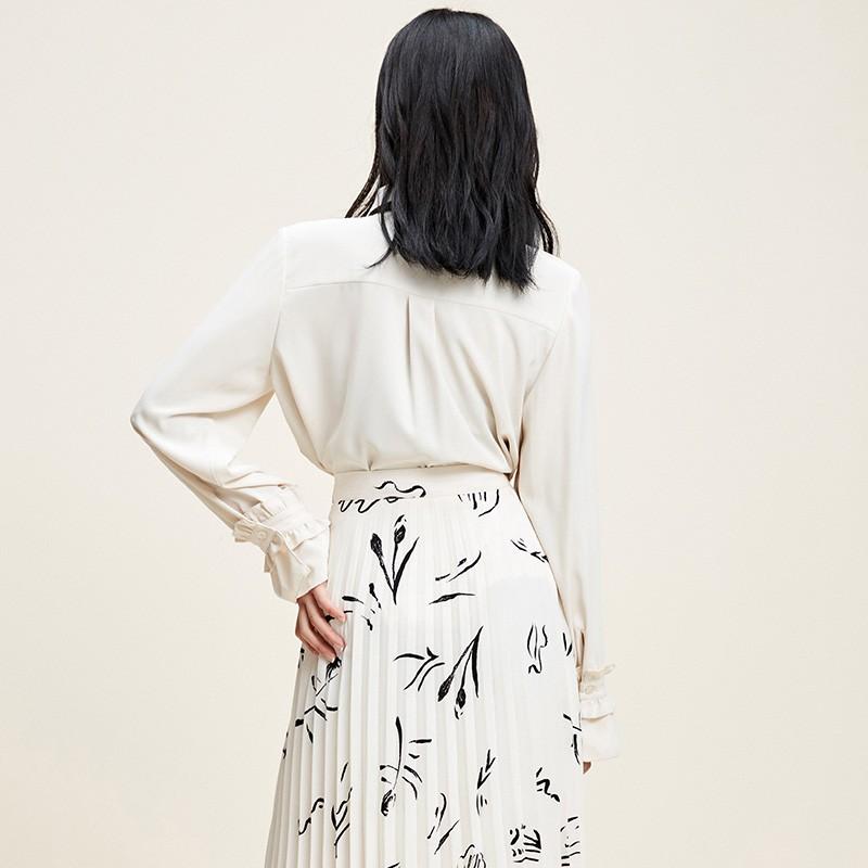 金苑上衣2020新款春时尚潮流女装气质长袖设计感雪纺衫女A2011025