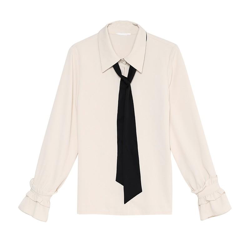 金苑上衣2020新款春时尚潮流女装气质长袖设计感雪纺衫女A2011026