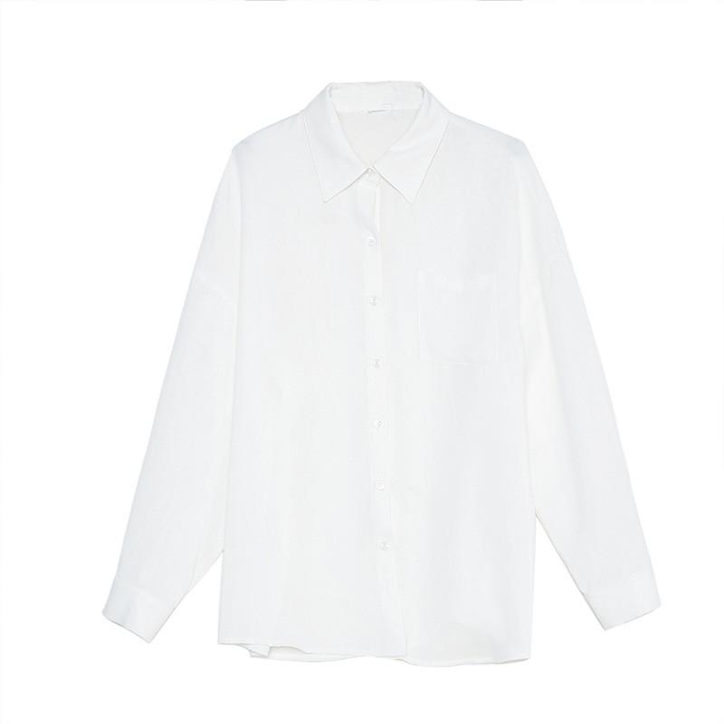 金苑韩版长袖衫2020春季新款设计感甜美学院风时尚衬衫女A2011056