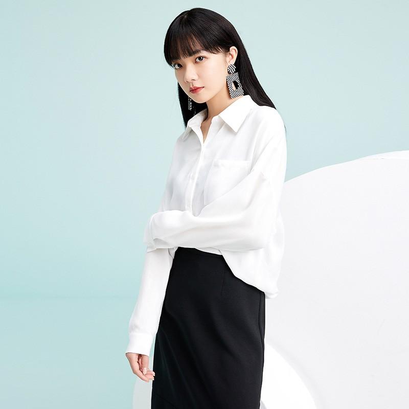 金苑韩版长袖衫2020春季新款设计感甜美学院风时尚衬衫女A2011053